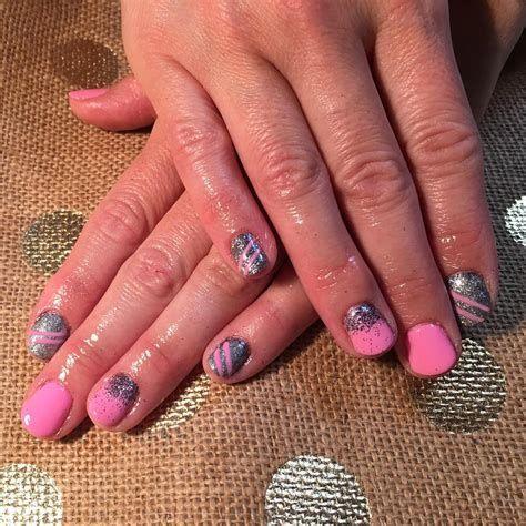Inspiring Silver And Pink Nails 20