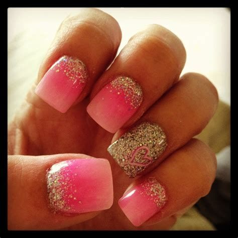 Inspiring Silver And Pink Nails 21