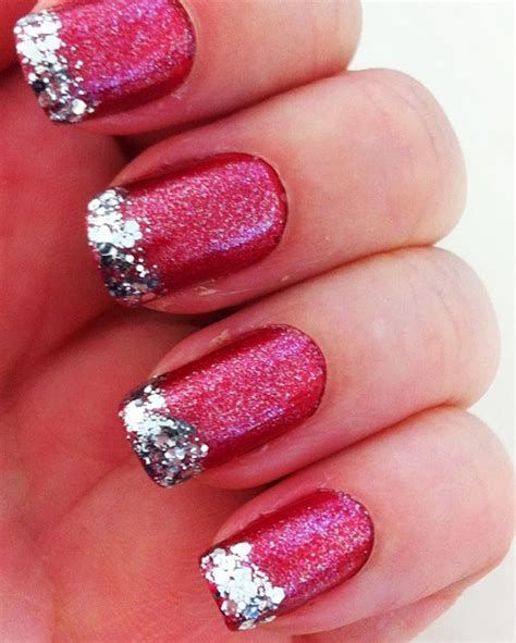 Inspiring Silver And Pink Nails 23