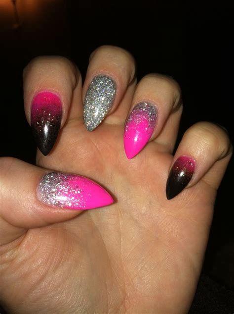 Inspiring Silver And Pink Nails 29