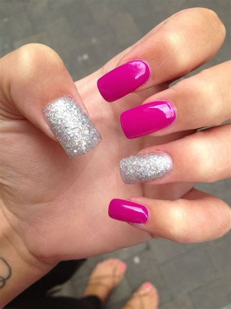 Inspiring Silver And Pink Nails 30