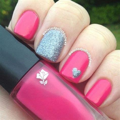 Inspiring Silver And Pink Nails 31