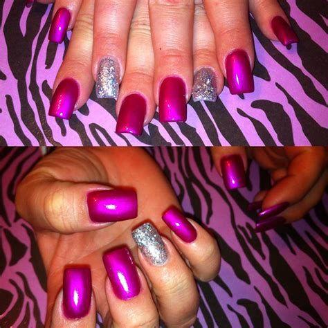 Inspiring Silver And Pink Nails 34
