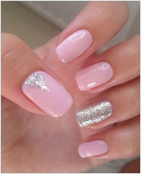 Inspiring Silver And Pink Nails 35
