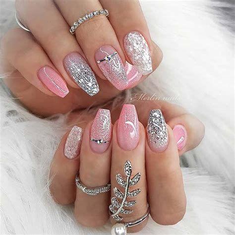 Inspiring Silver And Pink Nails 36