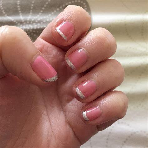 Inspiring Silver And Pink Nails 42