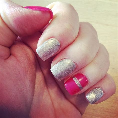 Inspiring Silver And Pink Nails 44