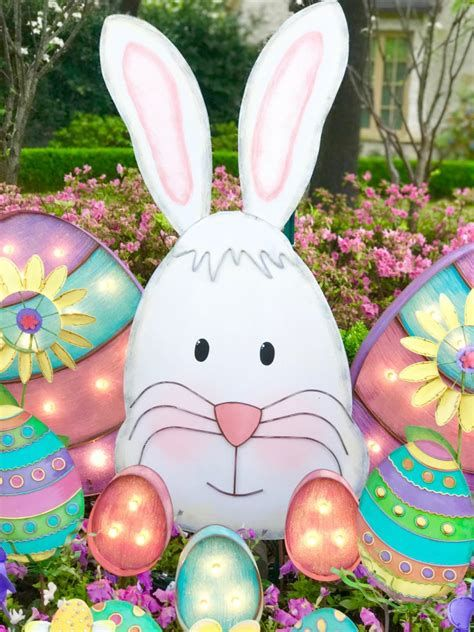 Lovely Outdoor Easter Decorations Lights 18