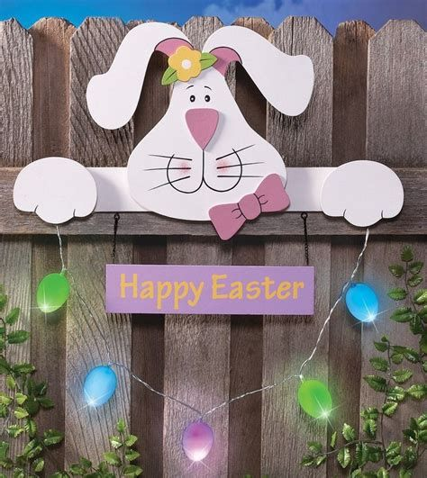 Lovely Outdoor Easter Decorations Lights 22