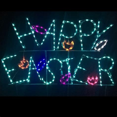 Lovely Outdoor Easter Decorations Lights 38