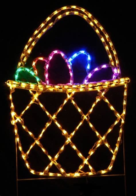Lovely Outdoor Easter Decorations Lights 43