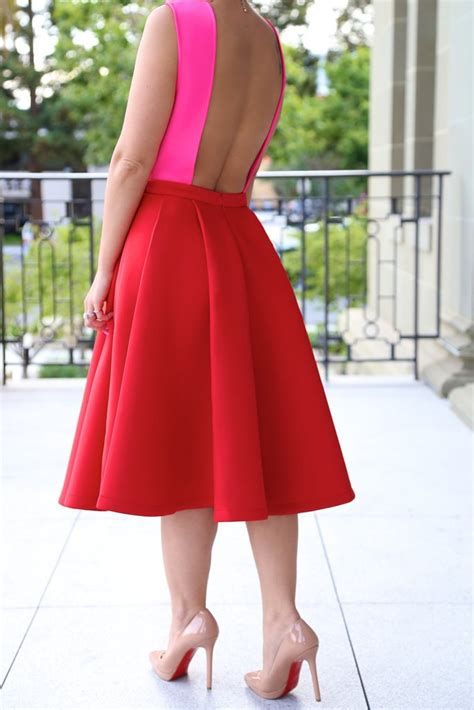 Stunning Red And Pink Dress Ideas 15