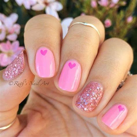 Totally Comfy Valentines Nail Designs Short Nails 03