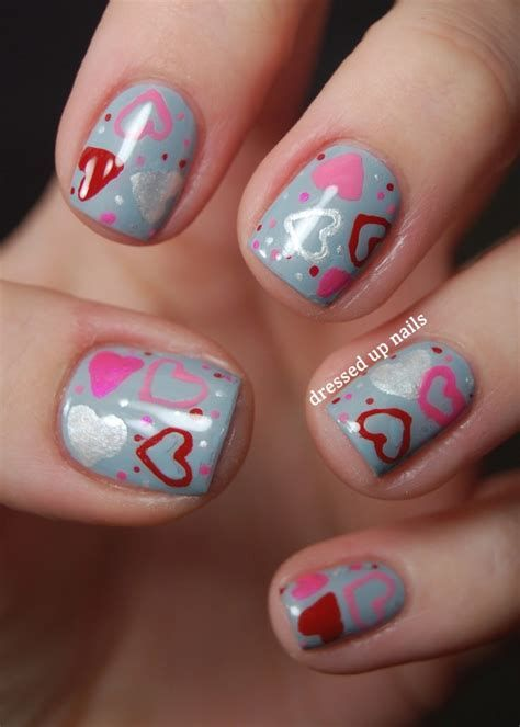 Totally Comfy Valentines Nail Designs Short Nails 04