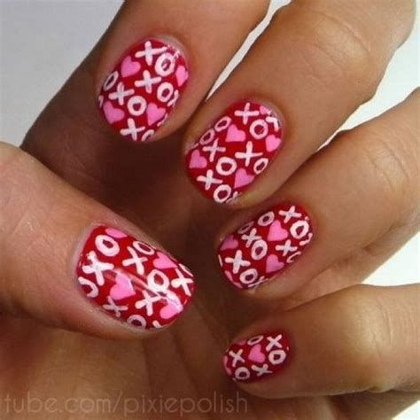 Totally Comfy Valentines Nail Designs Short Nails 15