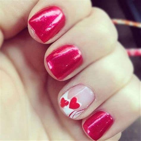 Totally Comfy Valentines Nail Designs Short Nails 17