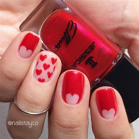 Totally Comfy Valentines Nail Designs Short Nails 20