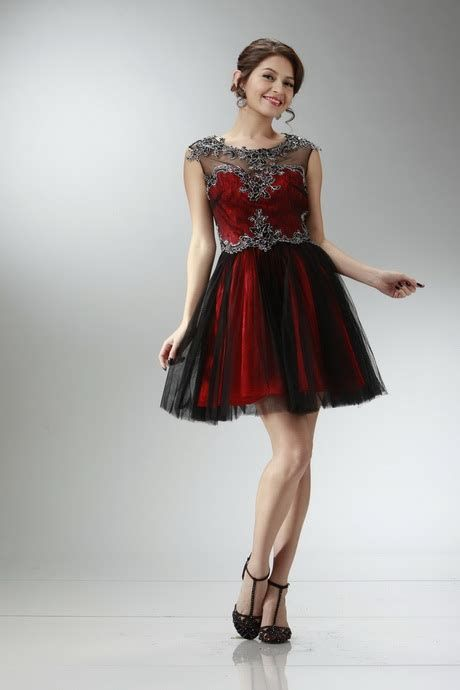 Totally Cute Red And Black Dress 13
