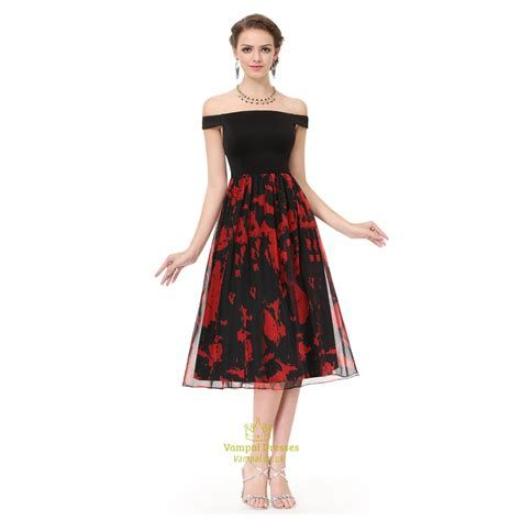 Totally Cute Red And Black Dress 15