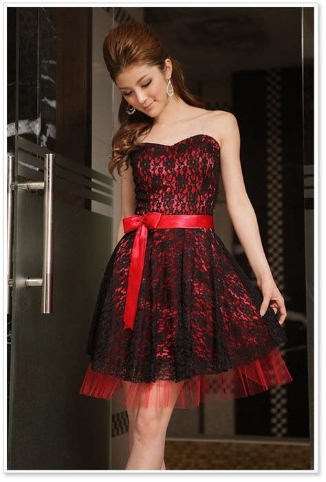 Totally Cute Red And Black Dress 16