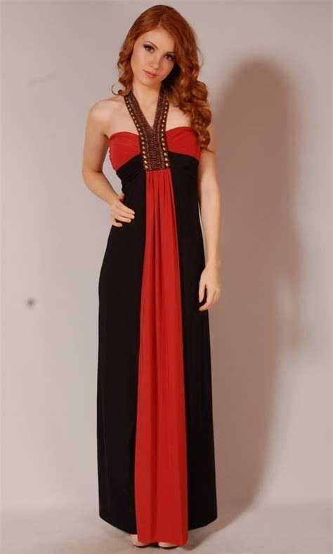 Totally Cute Red And Black Dress 29