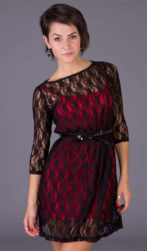 Totally Cute Red And Black Dress 31