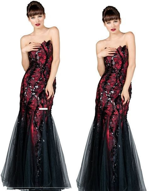 Totally Cute Red And Black Dress 34