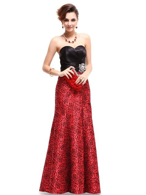 Totally Cute Red And Black Dress 35