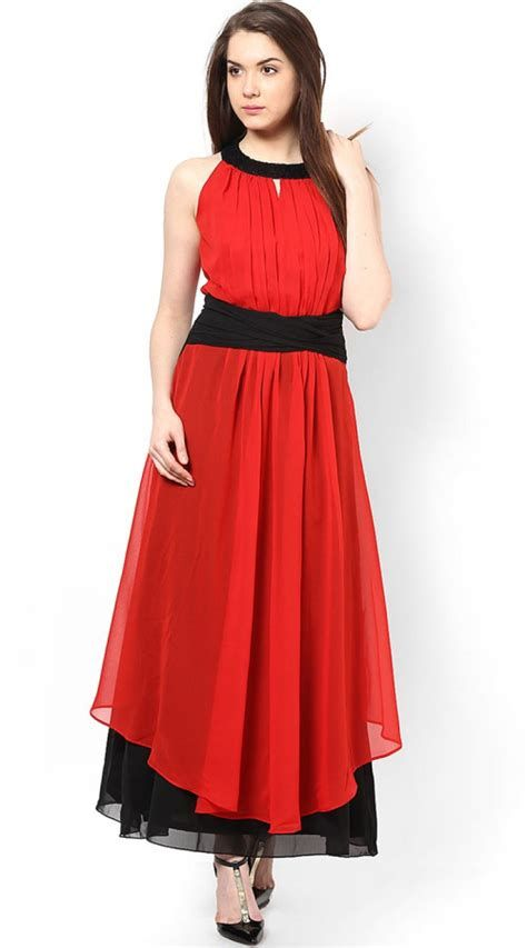 Totally Cute Red And Black Dress 36
