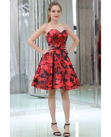 Totally Cute Red And Black Dress 37