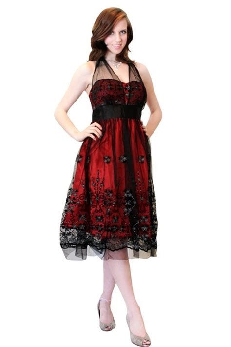 Totally Cute Red And Black Dress 40