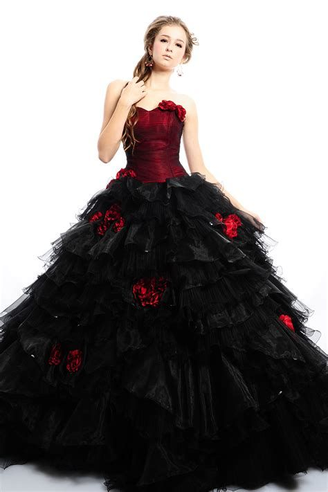 Totally Cute Red And Black Dress 44