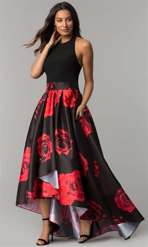 Totally Cute Red And Black Dress 45
