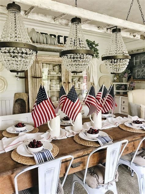 Totally Cute Rustic 4th Of July Decorations 43